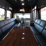 limo bus inside